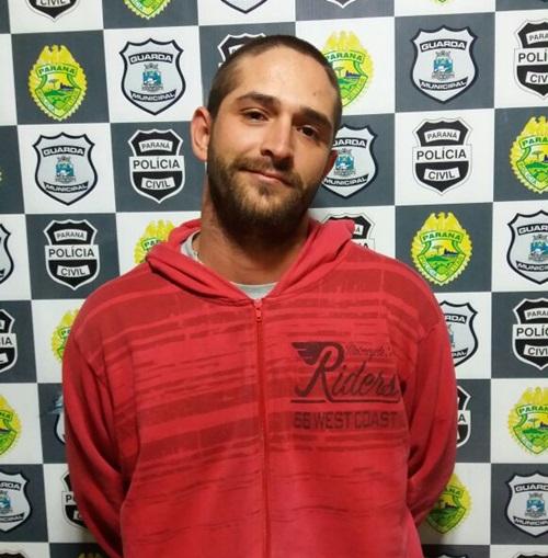 Rodrigo Galli, 26 anos, foi entregue à Polícia Civil. Foto: Divulgação PM