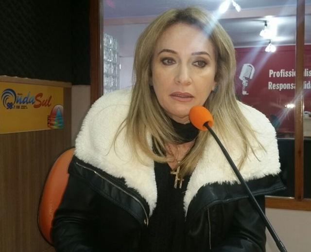 Jovelina Chaves, presidente do PV Francisco Beltrão. Foto: Ademir Augusto