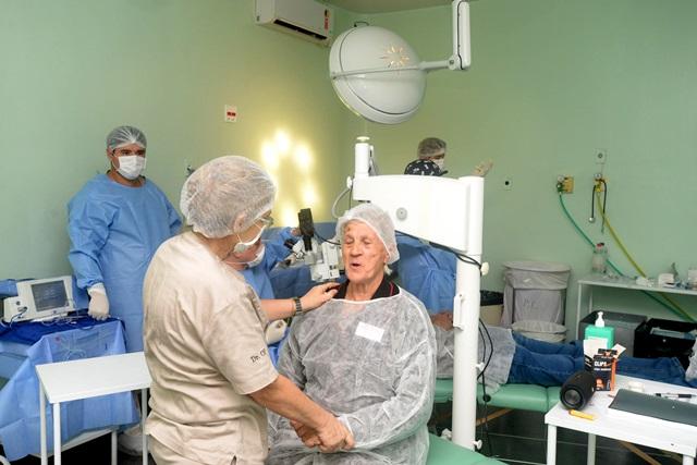 Um dois pacientes atendidos durante o mutirão realizado em Pranchita durante o fim de semana. Foto: Venilton Küchler/SESA