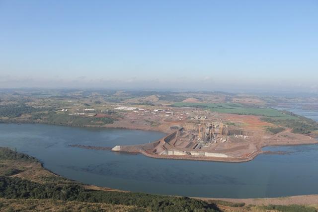 Vista aérea da Usina Hidrelétrica do Baixo Iguaçu. Foto: Divulgação Casa Civil