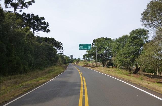Trecho recuperado entre a BR-373 e Mangueirinha (PR-281). Foto: Divulgação DER/SEIL