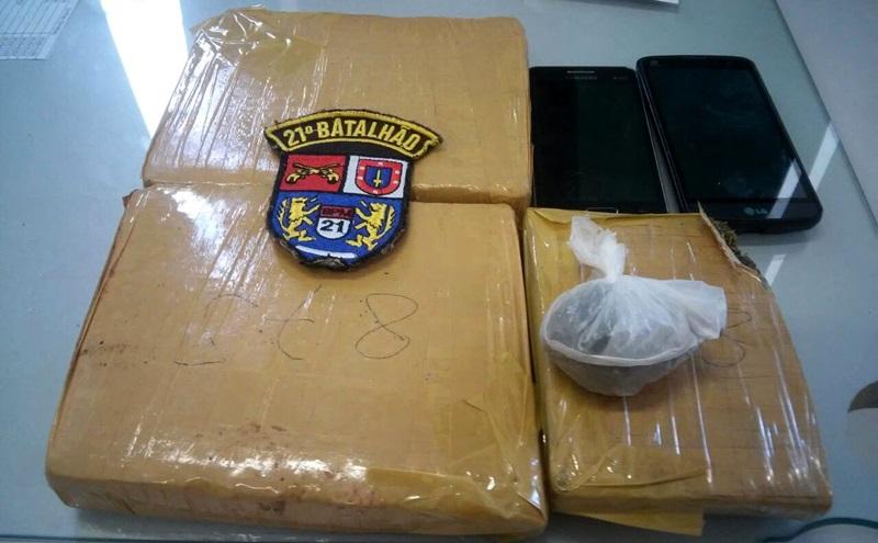 Maconha foi comprada em Santo Antonio do Sudoeste. Foto: Divulgação Polícia Militar
