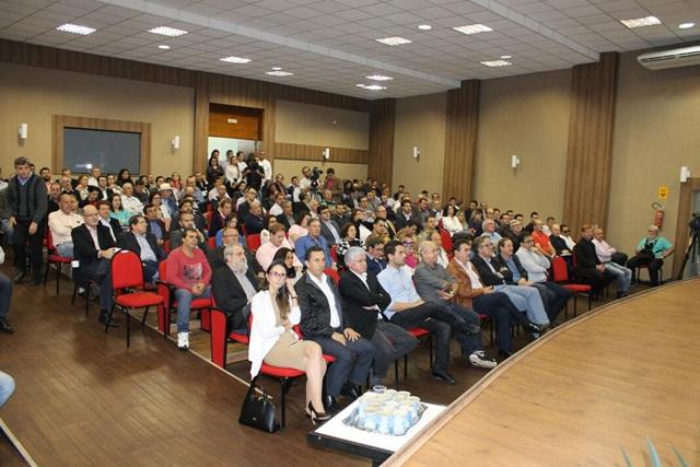 Auditório da Amsop ficou lotada para debate do assunto. Foto: Divulgação Casa Civil