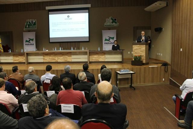 Consórcio Caminhos do Sudoeste apresentou vídeo institucional do projeto. Foto: Divulgação Casa Civil Governo do Paraná