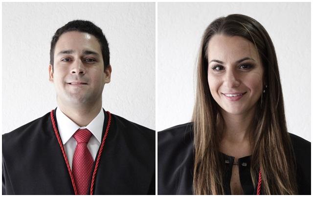 Caio Marcelo Santana Di Rienzo foi designado à Dois Vizinhos e Helena Ghenov Pomeraniec vai trabalhar em Santo Antônio do Sudoeste. Foto: Assessoria MP/PR