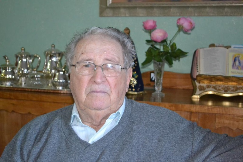 Angelo Camilotti morreu aos 98 anos. Na foto, feita em 2012 estava com 94 anos. Foto: Jornal de Beltrão