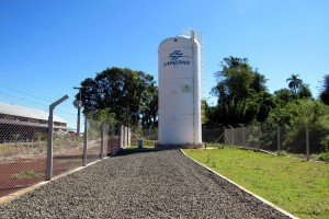 Reservatório de Nova Espero amplia em 400% o volume de água armazenada no sistema. Foto: Divulgação Sanepar Pato Branco