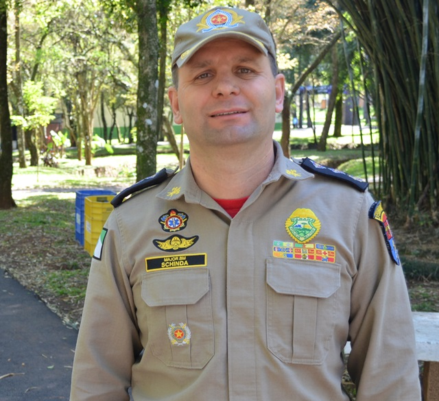 Major Antonio Schinda (Corpo de Bombeiros) está a frente da organização. Foto de divulgação