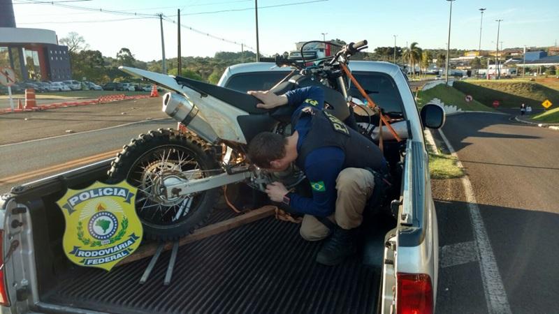 Moto foi furtada em Quedas do Iguaçu, em agosto de 2015. Foto: PRF