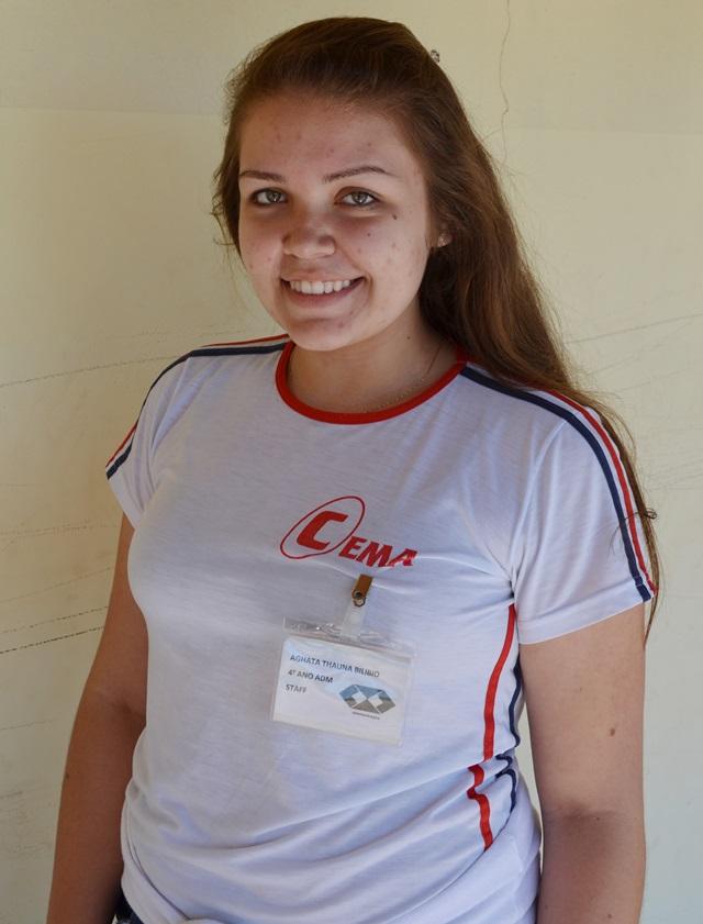 A estudante Aghata Bilibio comemora as oportunidades que vem tendo com o curso técnico. Crédito: Darce Almeida/Acefb.
