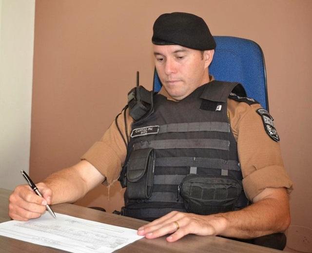 Capitão Rogério Pitz (21º Batalhão de Francisco Beltrão). Foto: Arquivo RBJ