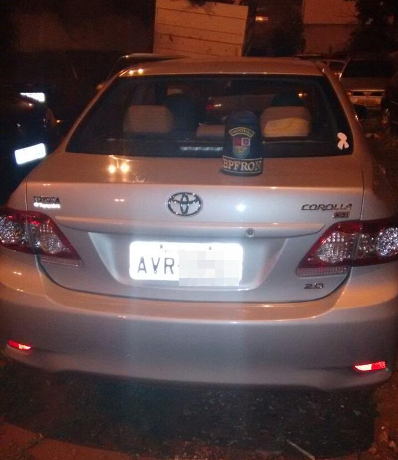 Veículo foi entregue na Delegacia de Polícia de Santo Antonio do Sudoeste. Foto de divulgação