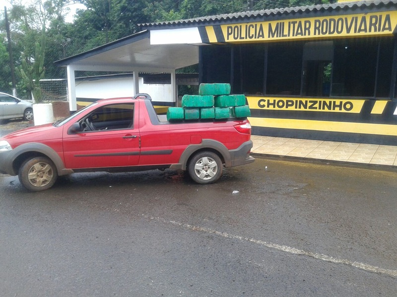 Veículo que transportava a droga foi roubado em Assis Chateaubriand, no mês de maio. Foto: Divulgação PRE