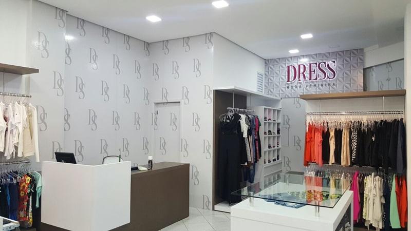 Assim ficou a loja Dress, na parte interna. Foto de divulgação
