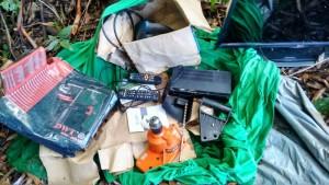 Objetos localizados no interior do município. Foto: Polícia Militar.