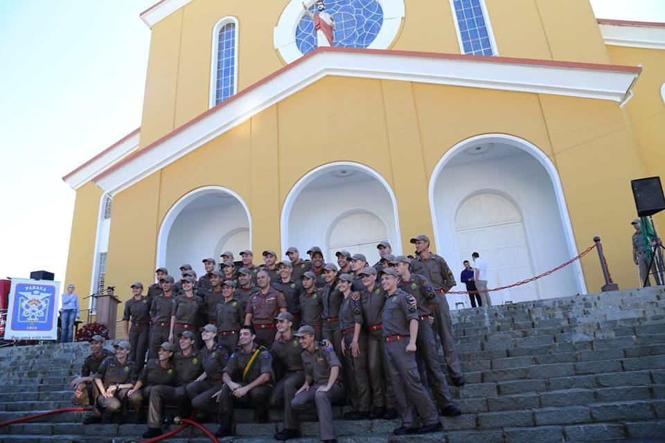 Turma de 26 novos bombeiros militares. Foto: Laiane Carniel.