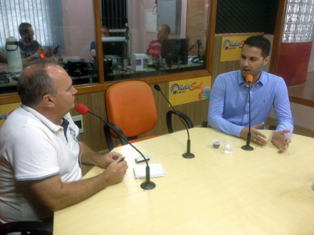Ademir entrevistando Litro / Foto: Francione Pruch