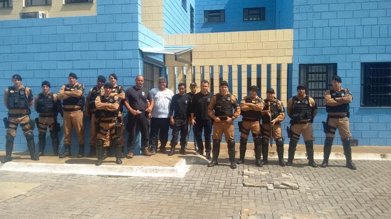 Equipes da Rotam e BPFron auxiliaram Agentes Penitenciários na operação. Foto de divulgação