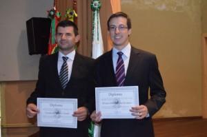 Vice Vanderlei Verdi e Prefeito Álvaro Scolaro: Foto: Assessoria.