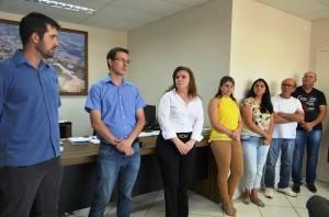 Deputada Federal Leandre Dal Ponte esteve reunida com autoridades municipais. Foto: Assessoria.