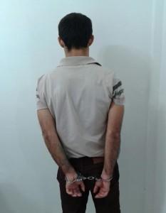 Carlos Alejandro de Souza Posso, 25 anos, estava escondido na casa de sua mãe em Chopinzinho. Foto: Polícia Civil.