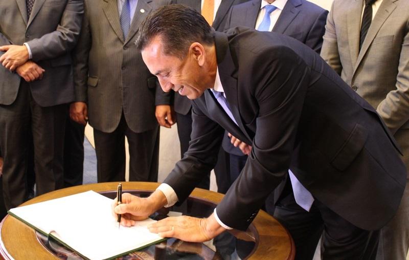 Reichembach (PSC) tomou posse como 3º Secretário na nova gestão da Mesa Executiva da Assembleia Legislativa do Paraná (Alep). Foto de divulgação