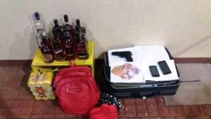 Objetos recuperados pela polícia. Foto: Polícia Militar.