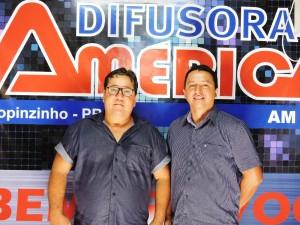 Vereador Nereu Hengen e presidente do partido SD Jorcelio Farias. Foto: Edson Zuconelli.