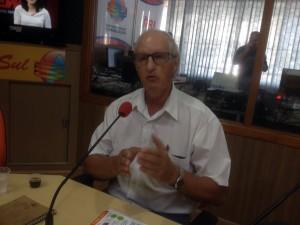 Luiz Perin na Rádio Onda Sul / Foto: Francione Pruch