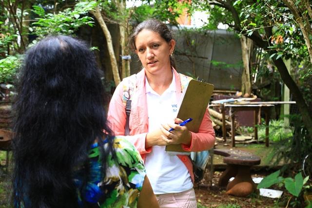 Agentes visitaram e conversaram com moradores. Foto de divulgação