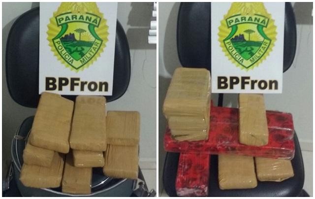 Droga comprada em Foz seria levada à Fraiburgo (SC). Foto de divulgação