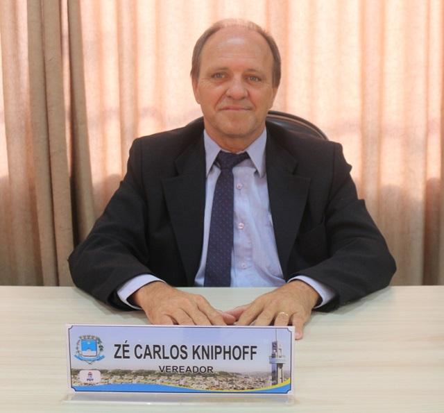 Vereador Zé Carlos Kniphoff (PDT) é o proponente da audiência. Foto de divulgação