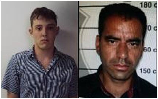 Júlio Cezar Felippe, 21 anos e João Rodrigo Rodrigues Policena, 39 anos, fugiram na madrugada desta sexta-feira. Foto: Divulgação PC/PM