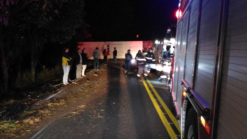 Acidente deixou nove feridos. Foto: Evandro Artuzi/RBJ