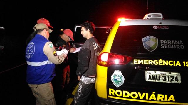 Exame do bafômetro comprovou que o motociclista estava bêbado. PRE fez a prisão e encaminhamento dele à 19ª SDP. Foto: Evandro Artuzi/RBJ