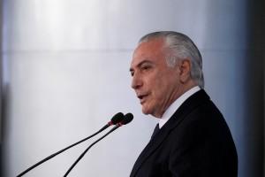 """Durante discurso, Temer ressaltou que País está em """"rota de superação"""" / Foto:Beto Barata/PR"""