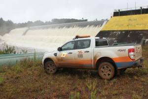 Defesa Civil de Passos Maia faz visita para monitorar barragem2