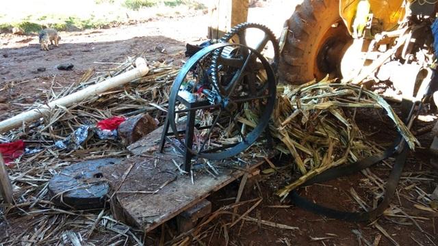 Equipamento funcionava acoplado a tomada de força de um trator. Foto: Reprodução TV Sudoeste