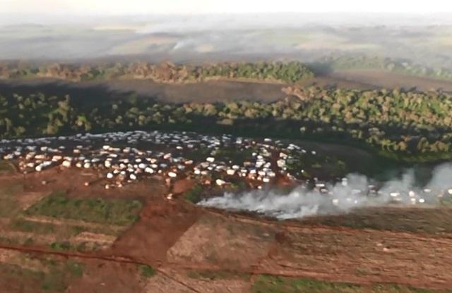 Vista aérea da área de propriedade da Araupel. Foto: Lucas Cezar/Olho Aberto Paraná