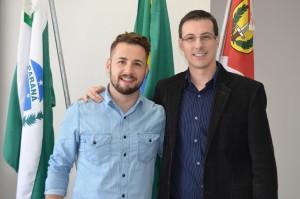 Vistor Salmoria e Álvaro Scolaro. Foto: Assessoria.