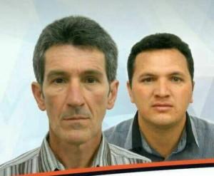 Altair Lavratti e o candidato a vice, Gilmar Fidelis