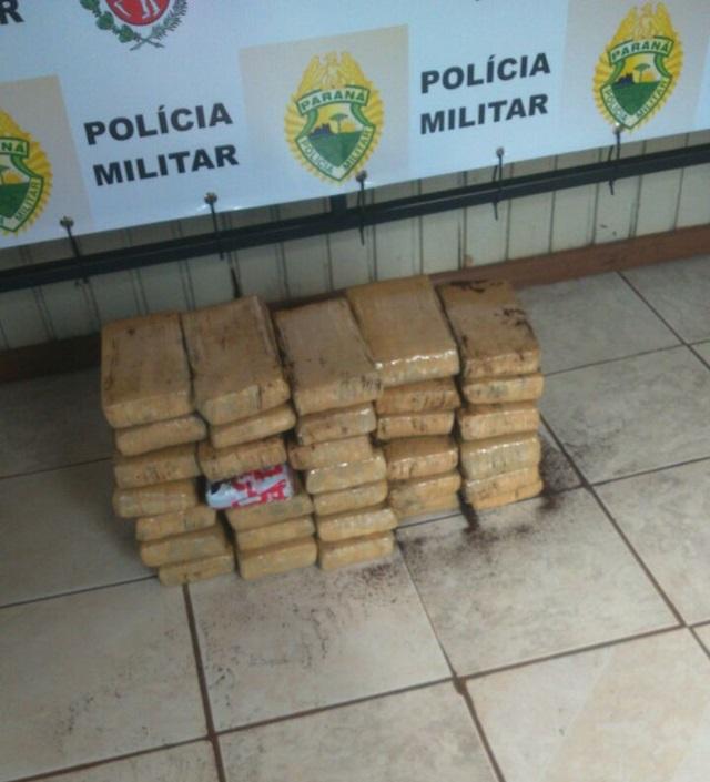 Maconha seria entregue em Curitibanos (SC). Foto de divulgação