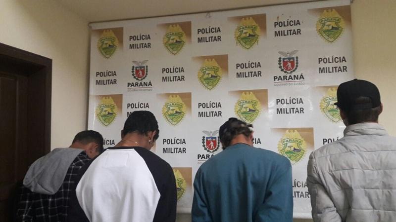 Suspeitos já tem uma extensa ficha criminal e foram encaminhados à Polícia Civil. Foto de divulgação