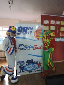 Patati e Patatá na Onda Sul FM / Foto: Francione Pruch