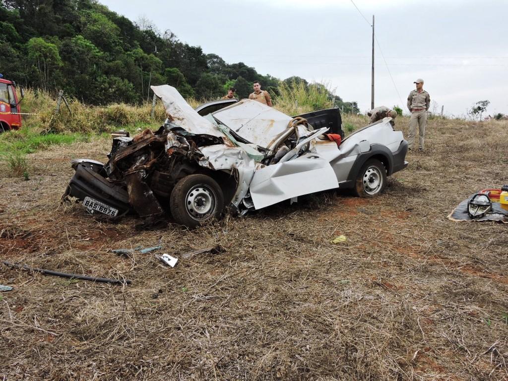 O veículo havia sido tomado em assalto nesta manhã. Foto: Edson Zuconelli.