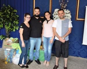 Amanda, Eduardo (Rádio Difusora), Gracielli Demartini (D. Cultura) e Sandro Tueros (ST Produções Teatrais).