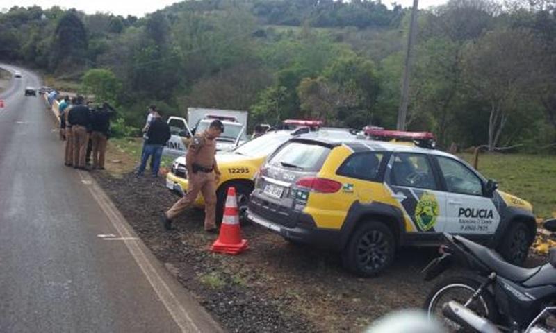 Corpo estava na cabeceira da ponte do Rio Santana. Foto: Celso Carnelut (Rádio Panorama AM)