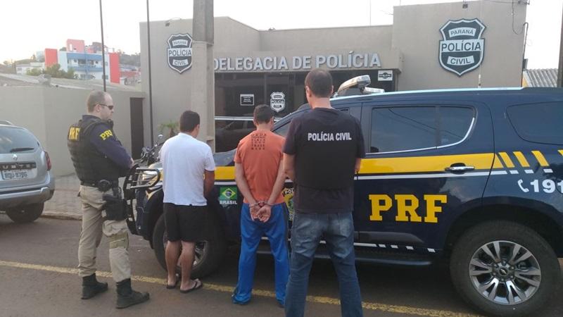 Suspeitos foram encaminhados à Delegacia de São João e na sequencia transferidos para Pato Branco. Foto de divulgação