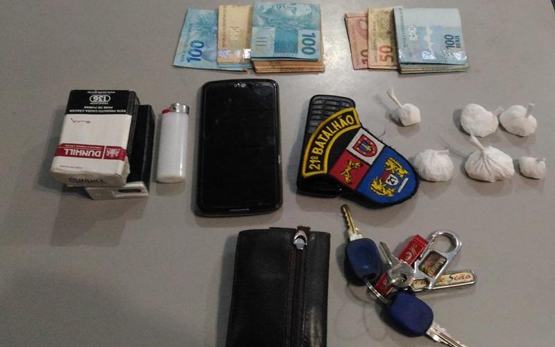 Cocaína apreendida por policiais de Renascença. Foto: Evandro Artuzi/RBJ