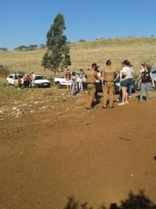 Foto feita pelo grupo de resgate